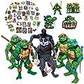 Teenage Mutant Ninja Turtles TMNT Action Figures Ninja Turtles Toy Set , Ninja Turtles Toyset Mutant Teenage 6 Pieces Set 4.7inch