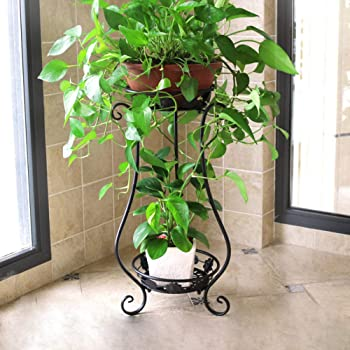 Metal Tall Plant Stand Indoor//Outdoor,Iron Flower Pot Holder Small Plant Holders,Flower Pot Stand Flower Pot Supporting,Potted Plant Stand Plant Rack Planter Stand,for Home,Garden,Patio White,31.5in