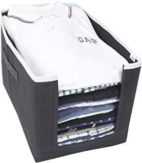 PrettyKrafts Shirt Stacker - Closet Organizer - Shirts and Clothing Organizer - Exile_Black
