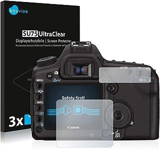 savvies Protector Pantalla Compatible con Canon EOS 5D Mark II (6 Unidades) Pelicula Ultra Transparente