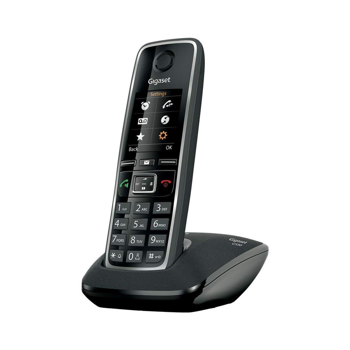 Gigaset C530 Basic - Teléfono inalámbrico (DECT, híbrido), color negro [Versión Importada]: Amazon.es: Electrónica