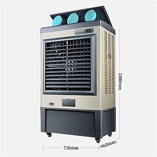 Zenghh Ventilador de enfriamiento Industrial Grande Enfriador evaporativo móvil Ventilador de Aire Acondicionado refrigerado por Agua Enfriador de Aire Hielo Comercial sin instalación Pesada