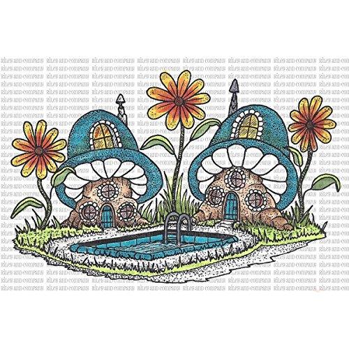 Riley & Company Mushroom Lane Cling Stamp 4.5