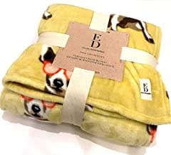 Ellen Degeneres All Season Ultra Soft Plush Full/Queen Blanket Featuring Adorable Puppies/Dogs