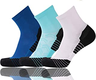 Running Tennis Socks for Men&Women Athletic Outdoor Colorful Ankle Socks,1-6 Pairs