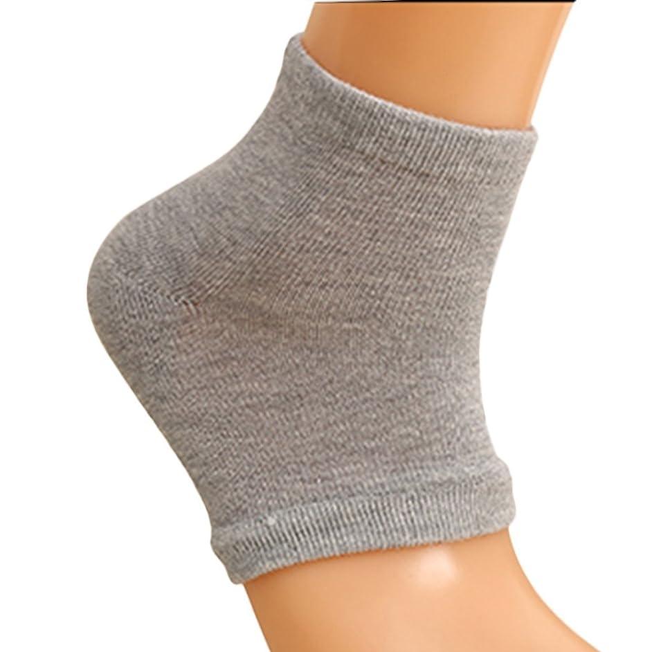 後方に実行する願望Xiton 靴下 ソックス レディース メンズ 靴下 つるつる 靴下 フットケア かかとケア ひび 角質ケア 保湿 角質除去(2足セット グレー)