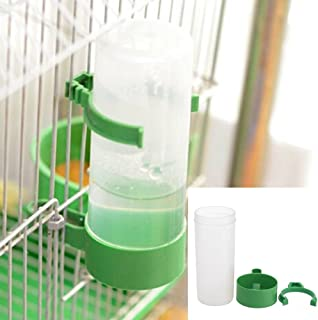 cuenco de agua p/ájaros fuentes inteligentes para jaula de aviaci/ón comederos autom/áticos Wicemoon Botella de agua de h/ámster de 125 ml