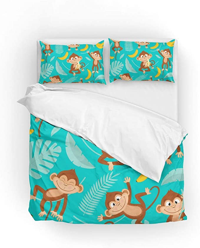 Feelyou Flamingo Coverlet Watercolor Flamingo Bedspread for Kids Boys Girls Tropical Palm Leaf Pattern Quilt Set Branches Animal Decor Quilted Bedroom Collection 3Pcs King Size