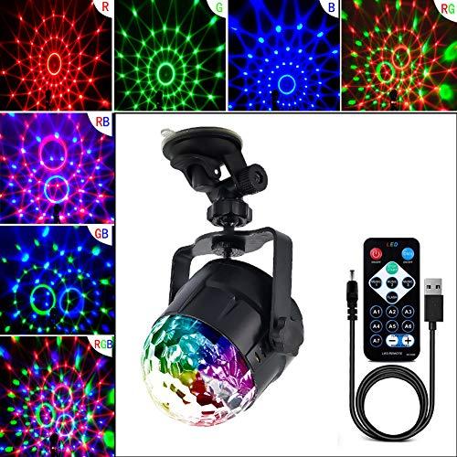 Disco-Kugel-Disco-Lichter, Partei beleuchtet Ton aktiviertes Storbe Licht mit Fernbedienung DJ-Beleuchtung, geführtes 3W RGB Light Bal, Tanz Lightshow