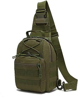 Outdoor Tactical Bag Mochila, Military Sport Bag Pack Sling Mochila Tactical Satchel para llevar iPad, smartphone, cartera y necesidades diarias