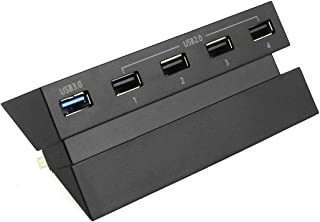 5 Ports High Speed 2.0 3.0 USB Adapter Connector Hub Compatible with Sony Playstation 4 PS4