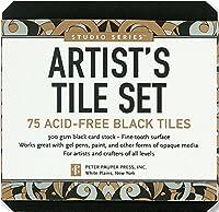 Studio Series Artist's Tiles Black: 75 Acid-free Black Tiles