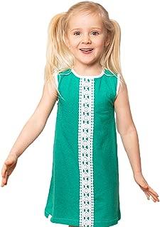 Alba of Denmark Organic Cotton Girl Dress Simila Dress Pepper Green