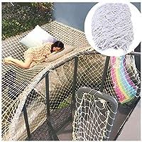 白いナイロンロープネットロープ直径6 MM、屋内子供用階段の落下防止ネット、屋外芝生保護ネット、天井装飾ネット、多目的ロープネット (Size : 1*5m(3*16ft))