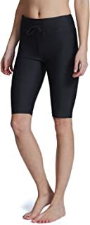 BALEAF Women`s Long Board Shorts High Waisted Swim Shorts Sun Protection Bikini Bottom UPF50+