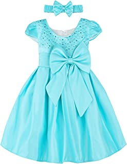Baby Girls Princess Dress Formal Party Dresses with Headband