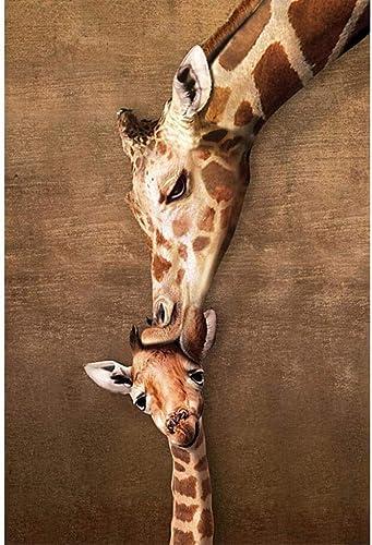 Puzzle House- H erne Puzzles, wilde afrikanische Giraffen mütterliche Liebe, entworfenes Linde, perfekter Schnitt und Passform, 300 500 1000 1500 Stück Boxed Toys Game Art Zeichnung für Erwachsene &