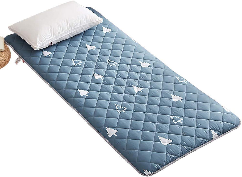 Traditional Japanese Floor futon mattresses, Portable Quilting Tatami Mattress Mattress pad Hypoallergenic Mattress Topper-C Twin