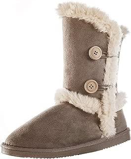 LUFFYMOMO Womens Slip on Snow Boots Warm Winter Outdoor Anti-Slip Boots
