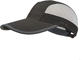 GADIEMKENSD Unstructured UV Baseball Cap with Reflective Tape 22-24.4in