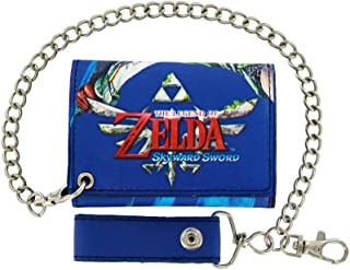 Legend of Zelda Skyward Sword Link Slash Wallet Tri-Fold with Chain