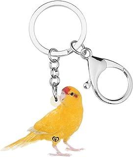 Wnkls Acrilico Brillante Coloued Canary Keychains Portachiavi Estetic Carino Bird Animale Catena Chiave Gioielli per Le Do...