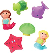 "Mud Pie Mermaid Bath Plastic Toy Set Kids Product, approx 2"""