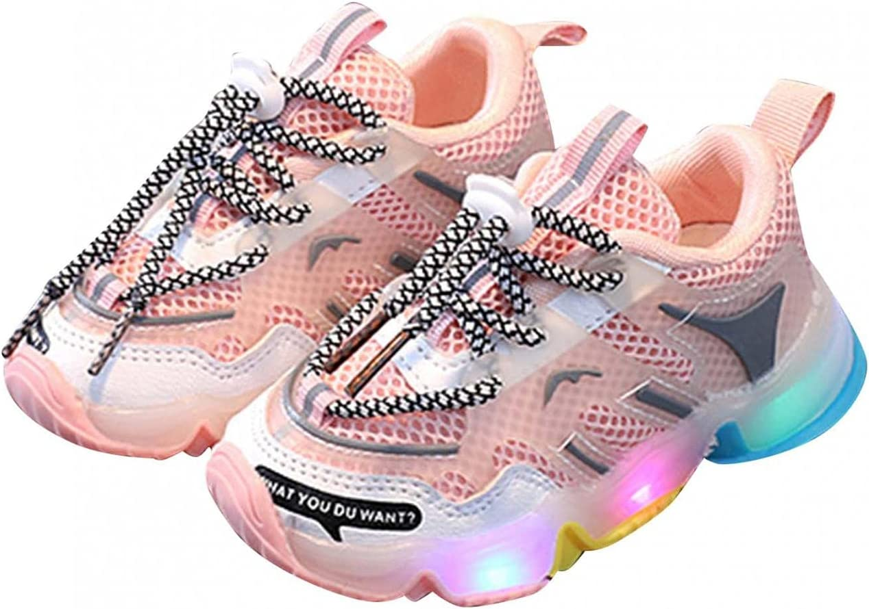 COMIOR Kids LED Sport Shoes Children Colorful LED Light Shoes Baby Boys Girls Light Luminous Running Shoes Unisex Festival Carnival Sneakers Walking Shoes Jogging Shoes Suit for 15 Months-7 Years