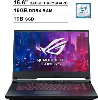 2019 Asus ROG G531GT 15.6 Inch FHD Gaming Laptop (9th Gen Intel 6-Core i7-9750H up to 4.50 GHz, 16GB DDR4 RAM, 1TB SSD, NVIDIA GeForce GTX 1650, RGB Backlit Keyboard, Windows 10) (Black)