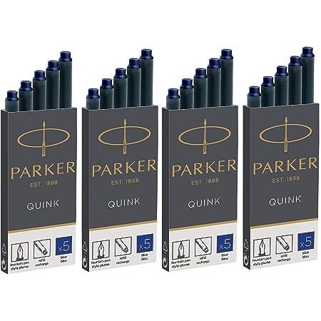 Parker Quink Ink Cartridges Blue (Pack of 20) (4 x 5)