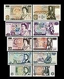 *** 1,5,10.20,50 englische Pounds - Ausgabe ND 1971 - 1993 - alte Währung - Reproduktion *** -