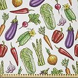 ABAKUHAUS Gemüse Kunst Microfaser Stoff als Meterware,