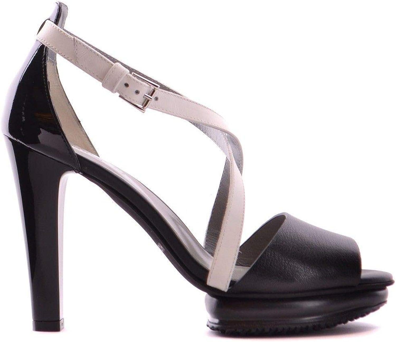 Hogan Women's MCBI20626 Black Leather Sandals
