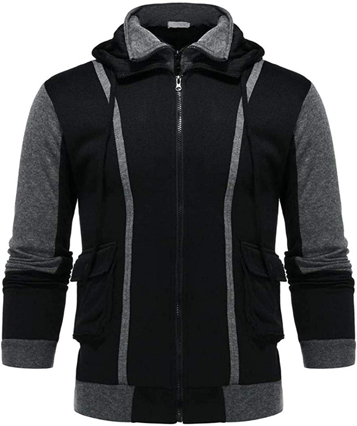 Men's Zipper Jacket Solid Hoodies Windproof Sweatshirt Free shipping anywhere in the Luxury nation Winter Co