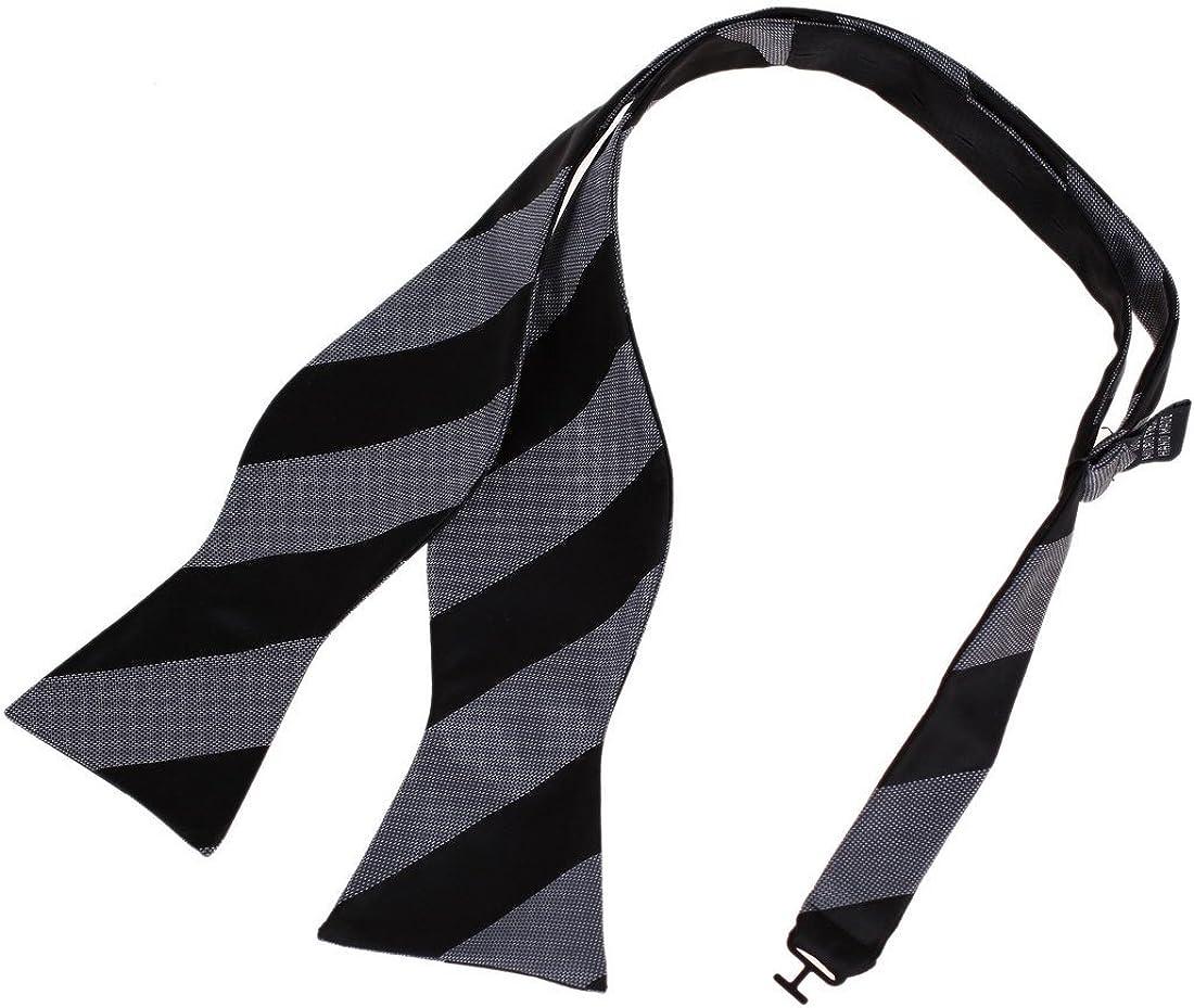 Dan Smith Men's Fashion Stripes Wit Houston Mall Special sale item Self-tied Microfiber Bow Tie