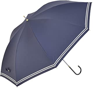 Nifty Colors(ニフティカラーズ) 長傘 遮光セーラーボーダー ネイビー
