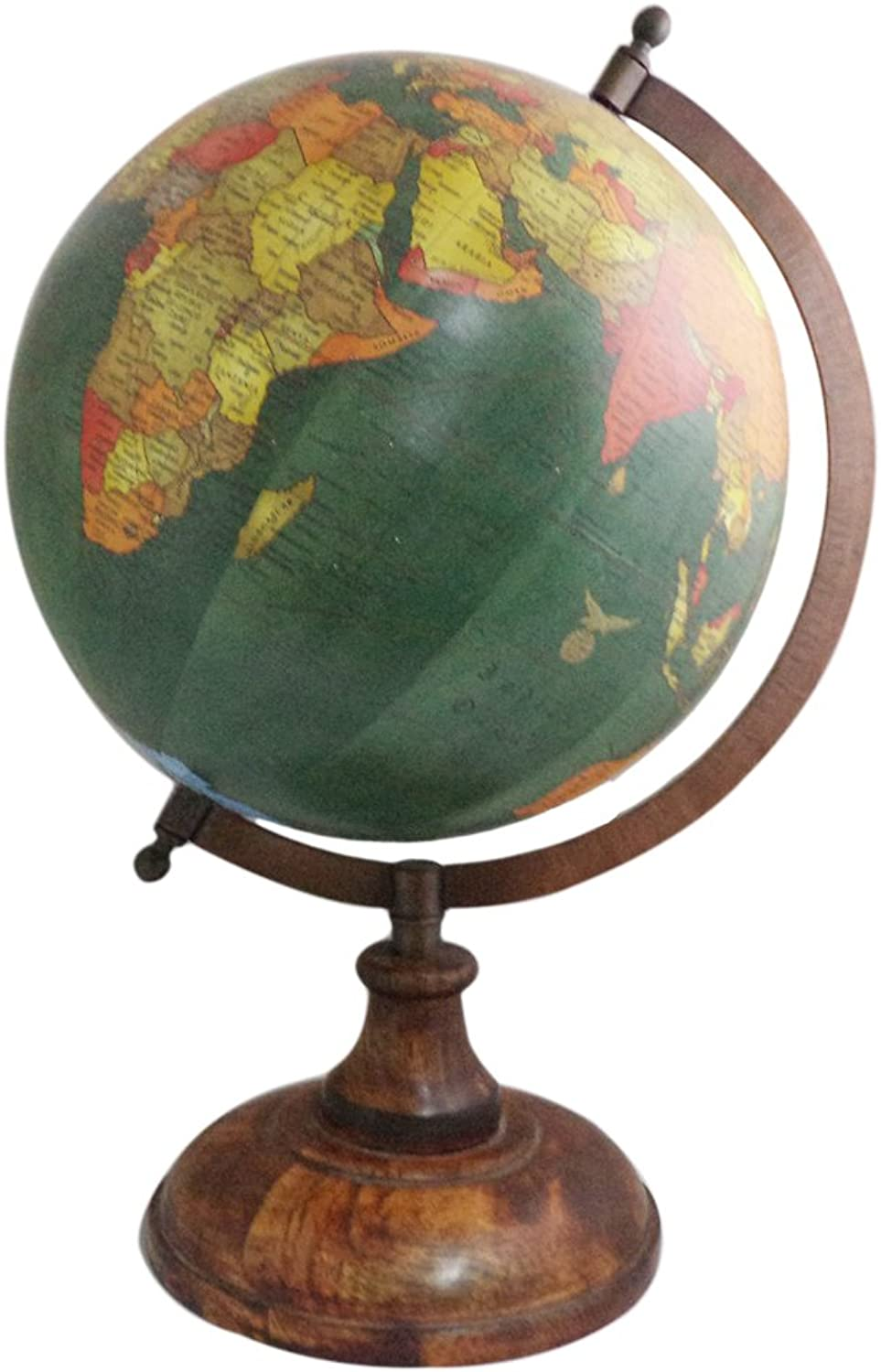 Handmade Wooden Stand Word Map Antique Decorative Plastic Globe 14  Inch Globe Handmade Wooden Stand Word Map