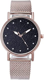 007XIXI Cheap Watches for Women Under 5 Pounds 2019 hot Sale Fashion Luxury Inlay Diamond Starry Dial Quartz Silicone Tape Ladies Watch