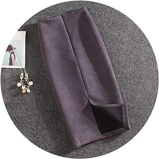 Women Skirts Summer Knee-Length Pencil Skirt Female Suede Split Skirts Jupe Femme Faldas