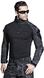 SINAIRSOFT Tactical Pants Shirt with Knee Pads Army Airsoft Combat BDU Pants Shirt Typhon