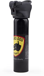 Guard Dog Security 4-Ounce Flip Top Pepper Spray with LED Flashlight - Self Defense Equipment, (Black)