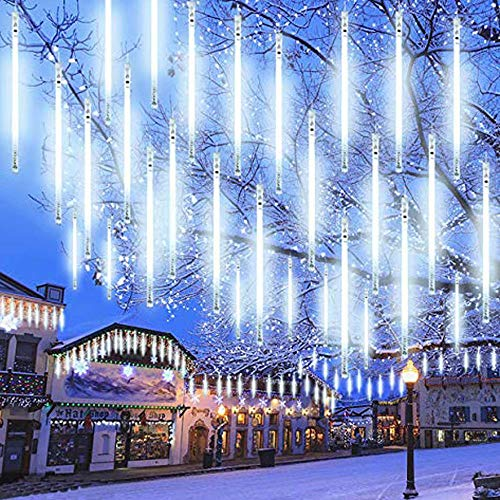 ZG Meteor Shower Drop Lights - GZ 50cm / 36 LED Luminosi Impermeabile ghiacciolo Snowfall String Lights per Natale Halloween Garden Tree Wedding Christmas (Bianco)