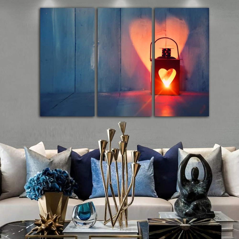 punto de venta barato FGVBWE4R HD Marco de Imágenes Impresas Impresas Impresas Lienzo Arte de la Parojo para la Sala 3 Piezas Lámpara de Calle Parojo De Madera Decoración del Hogar Pintura Posters-M  mas barato