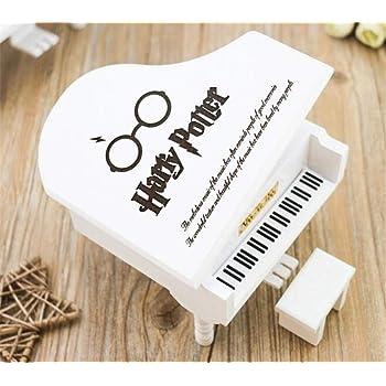 WooMax Caja de música Harry Potter, Caja Musical de Madera de Piano Blanco, cumpleaños o Navidad: Amazon.es: Hogar