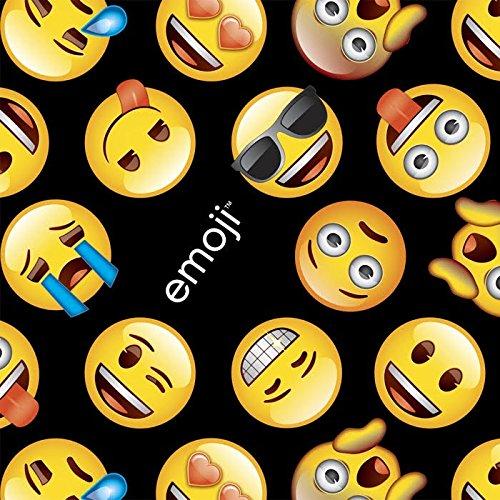 Emoji Black Cotton Fabric by The Yard, 1 Yard Precuts