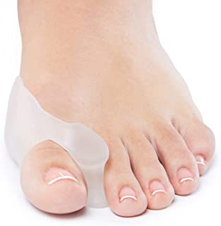 [2021]NatCure Gel Big Toe Bunion Guards & Toe Spreaders (2 Pieces) - Pain Relief for Crooked, Overlapping Toes, Pressure, ...