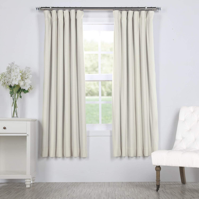 HPD Half Price Drapes VPCH-110602-63 Signature Blackout Velvet Curtain, 50 x 63, Off Off White