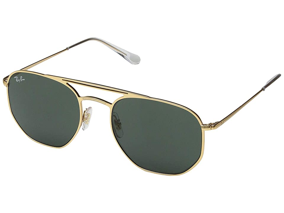 Ray-Ban RB3609 54 mm. (Demi Gloss Gold/Green) Fashion Sunglasses