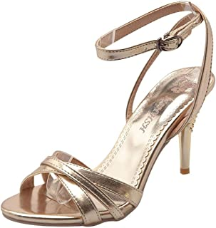 ad97ba9d3 Artfaerie Women's Stiletto High Heels Ankle Strap Sandals Slingback Party  Summer Shoes