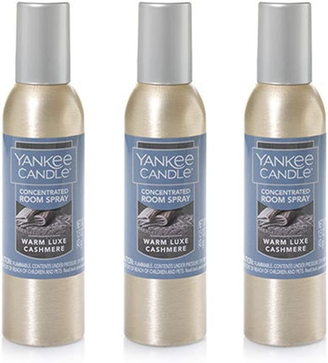 Animer and price revision Yankee Candle Concentrated Room Spray Max 50% OFF Luxe Warm Cashmere 3-Pack